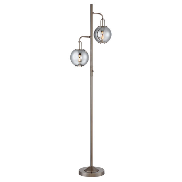 Kaira Gun Metal Two-Light Floor Lamp, image 1