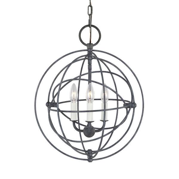 Bayberry Weathered Galvanized Three-Light Pendant, image 3