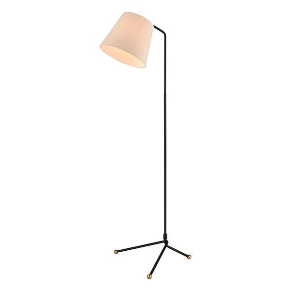 Pine Plains Black One-Light Floor Lamp, image 1