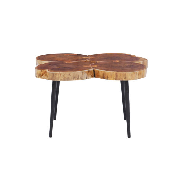 Aurelio Brown and Black Live Edge Small Coffee Table, image 3