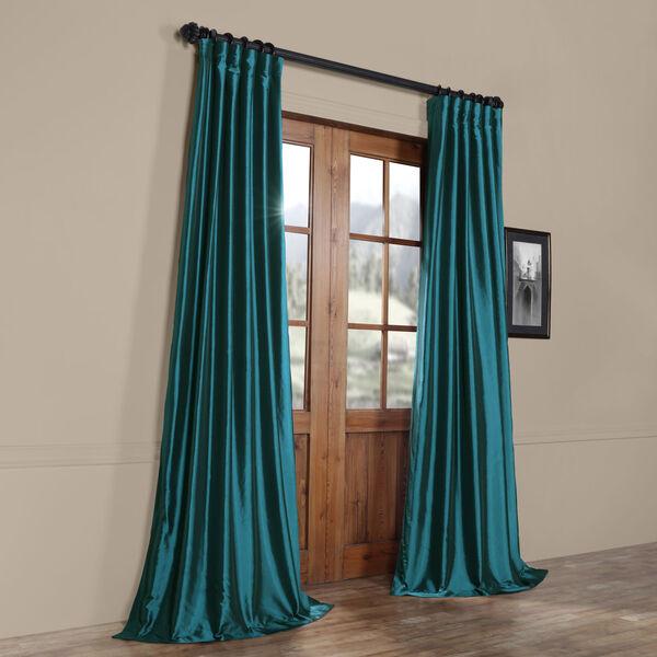 Mediterranean Faux Silk Taffeta Single Panel Curtain, 50 X 120, image 8