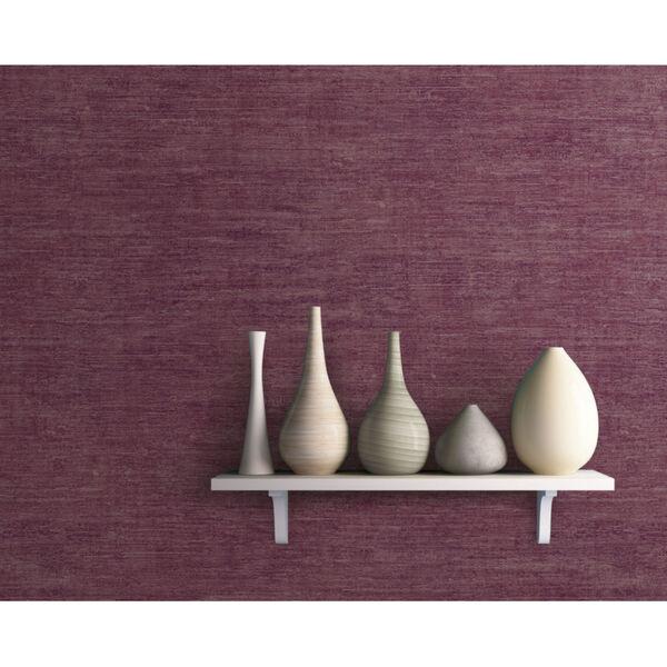 Antonina Vella Elegant Earth Berry Heathered Wool Textures Wallpaper, image 1