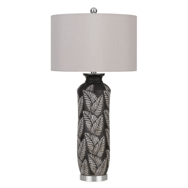 Shiloh Black and Gray One-Light Table Lamp, image 1