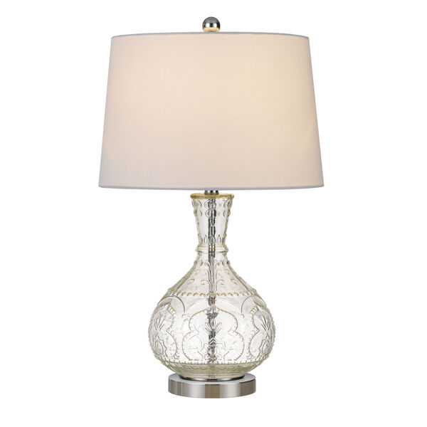 Nador Clear and White One-Light Table lamp, image 3
