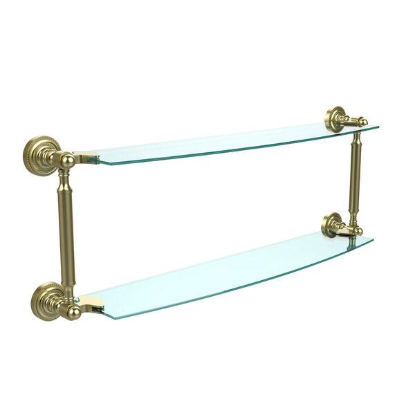 Satin Brass 24-Inch Double Shelf , image 1