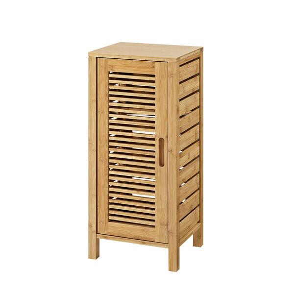 Navaeh Natural Bamboo Bathroom One Door Floor Cabinet, image 1