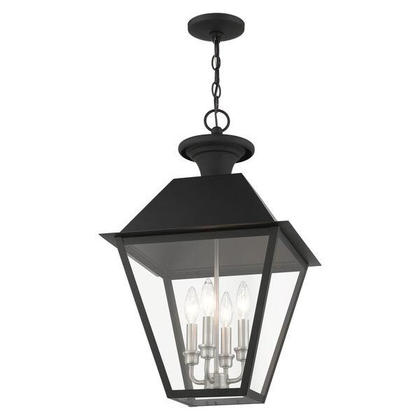 Mansfield Black Four-Light Outdoor Pendant, image 3