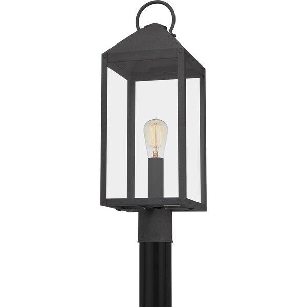 Thorpe Mottled Black One-Light Outdoor Post Mount, image 5