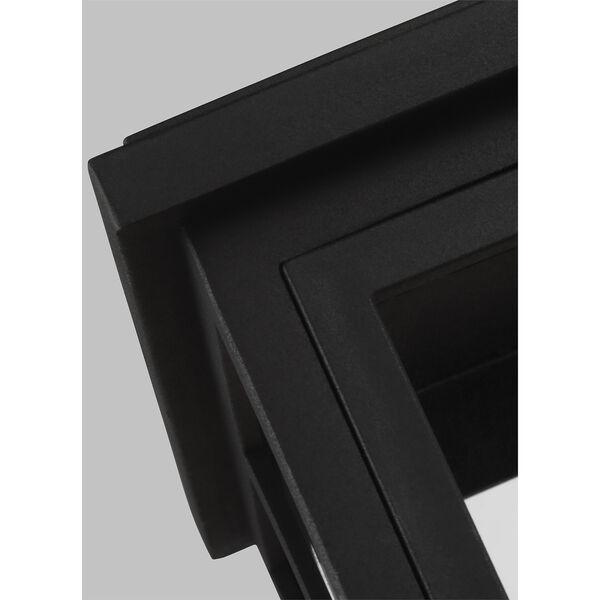 Warren Textured Black Three-Light Outdoor Wall Lantern, image 2