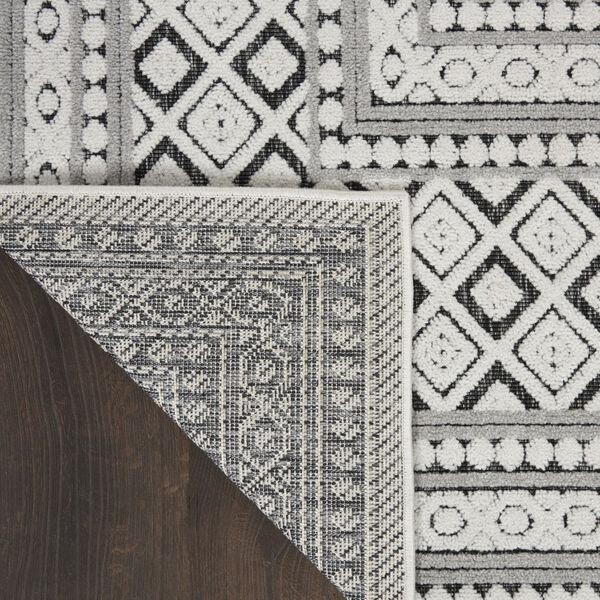 Calobra Dark Gray and Black 7 Ft. 10 In. x 9 Ft. 10 In. Rectangle Indoor/Outdoor Area Rug, image 3