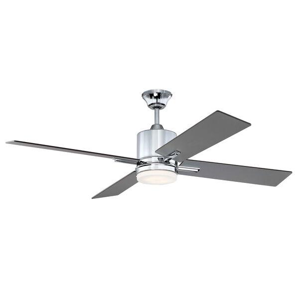 Teana Chrome Led 52-Inch Ceiling Fan, image 1