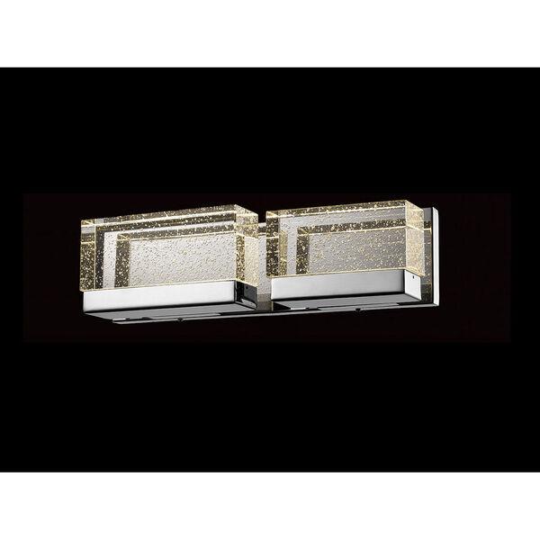 Glacier Avenue Polished Nickel 18-Inch LED Bath Bar, image 1