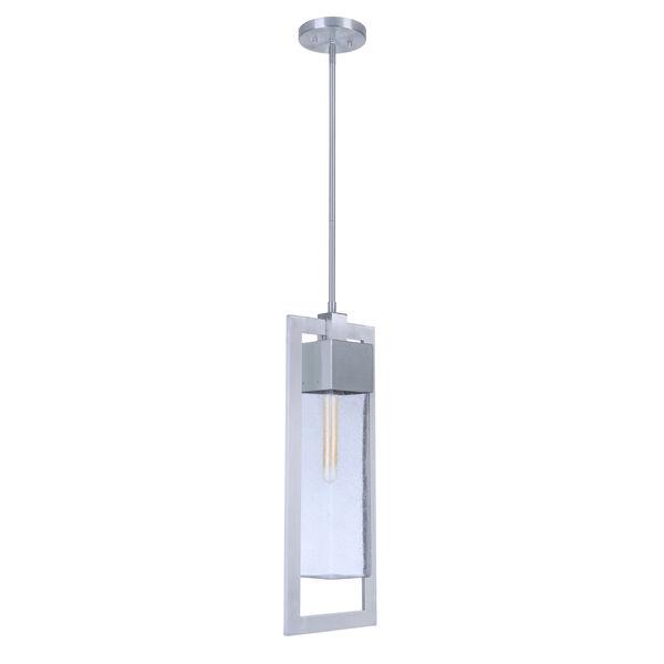 Perimeter Satin Aluminum One-Light Outdoor Mini-Pendant, image 2