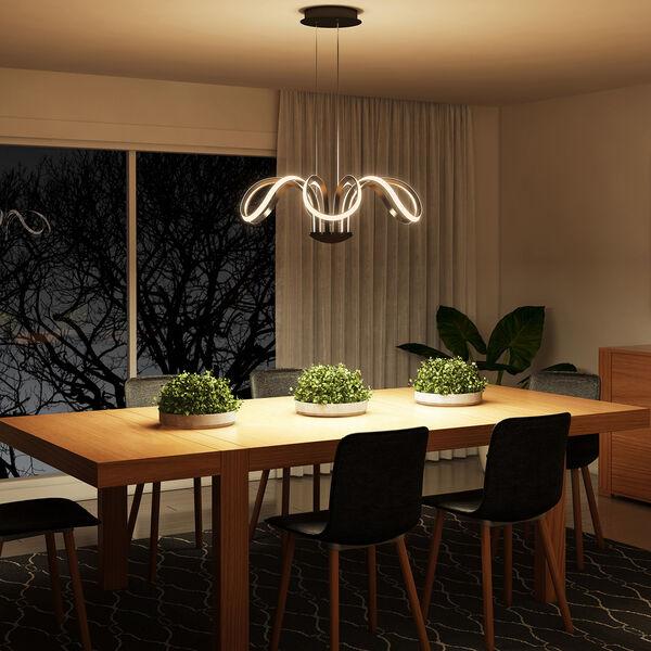 Capella Black 30-Inch LED Adjustable Chandelier, image 5