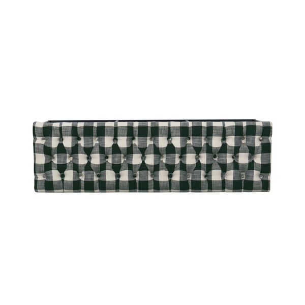 Black and White 52-Inch Hardwood and Plywood Bench, image 6
