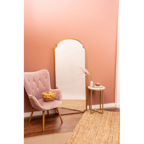 Saxton Gold 70-Inch Floor Mirror, image 5