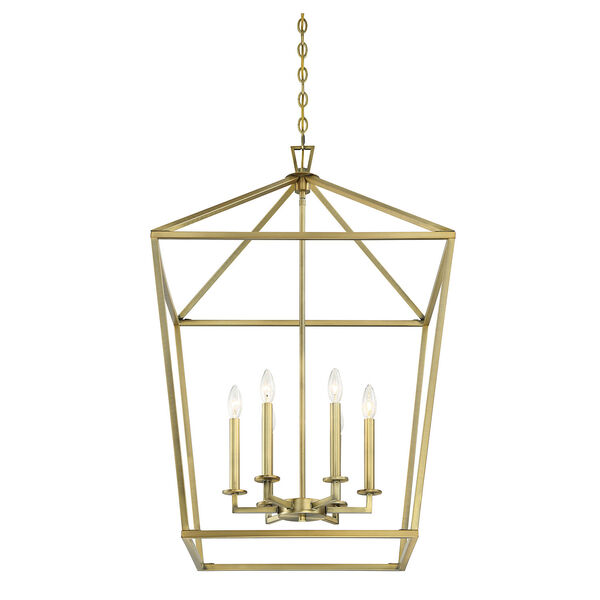 Townsend Warm Brass Six-Light Pendant, image 5