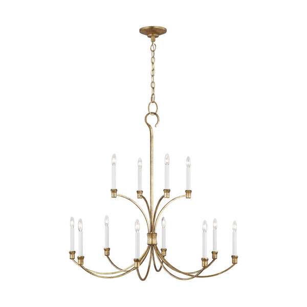 Westerly Antique Gold 42-Inch 12-Light Chandelier, image 1