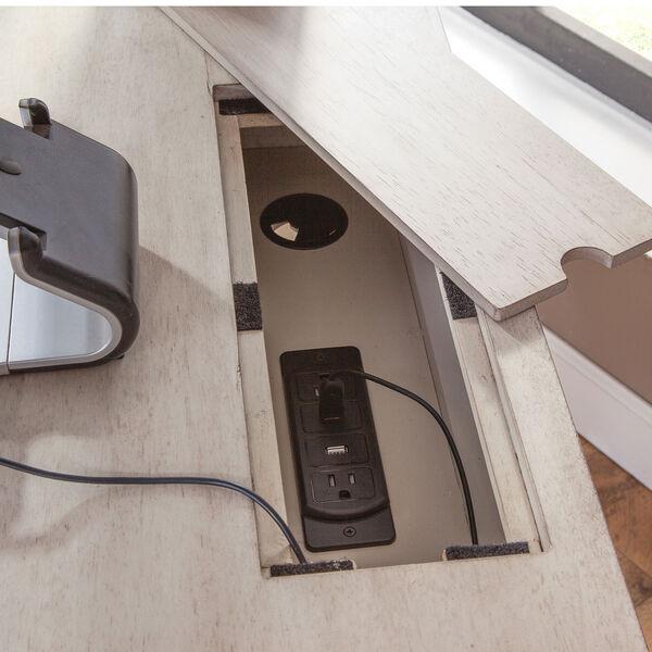 Aurora Whitewash 60-Inch Storage Desk, image 5