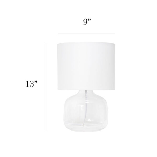 Cerise Clear White One-Light Table Lamp, image 3