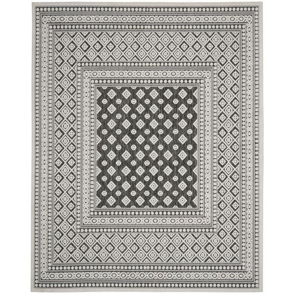 Calobra Dark Gray and Black 7 Ft. 10 In. x 9 Ft. 10 In. Rectangle Indoor/Outdoor Area Rug, image 2