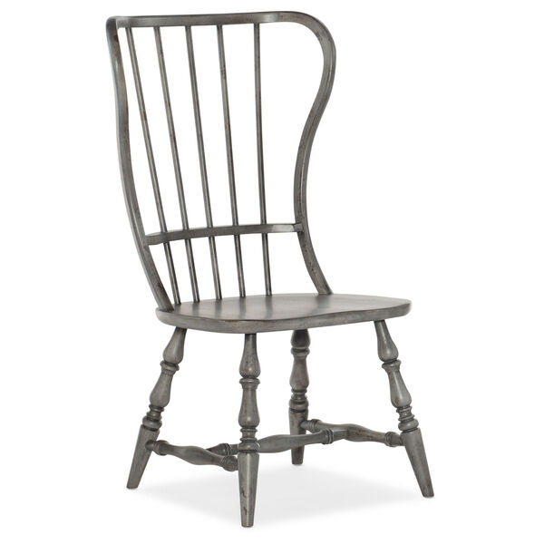 Ciao Bella Gray 43-Inch Spindle Back Side Chair, image 1