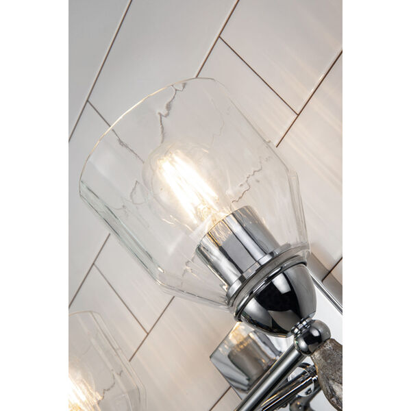 Fun Finial Polished Chrome Silver Two-Light Wall Sconce, image 2