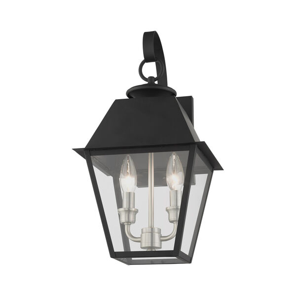 Mansfield Black Two-Light Outdoor Wall Lantern, image 3