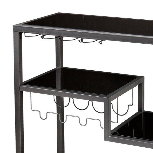 Zephs Gray and Black Bar Cart, image 2