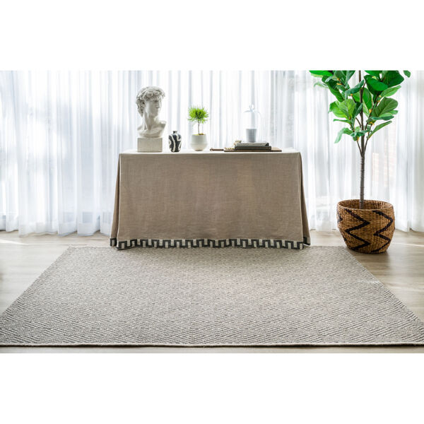 Downeast Wells Charcoal Rectangular: 6 Ft. 7 In. x 9 Ft. 6 In. Rug, image 2