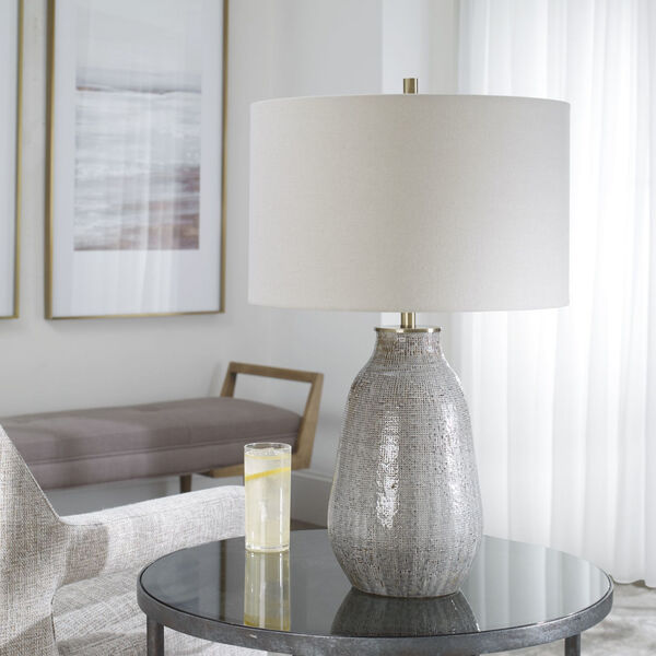 Monacan Gray One-Light Textured Table Lamp, image 3