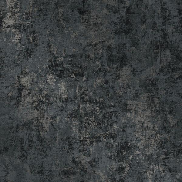 Distressed Gold Leaf Gunmetal Peel and Stick Wallpaper, image 3