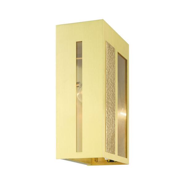 Lafayette Satin Brass One-Light Outdoor Wall Lantern, image 6