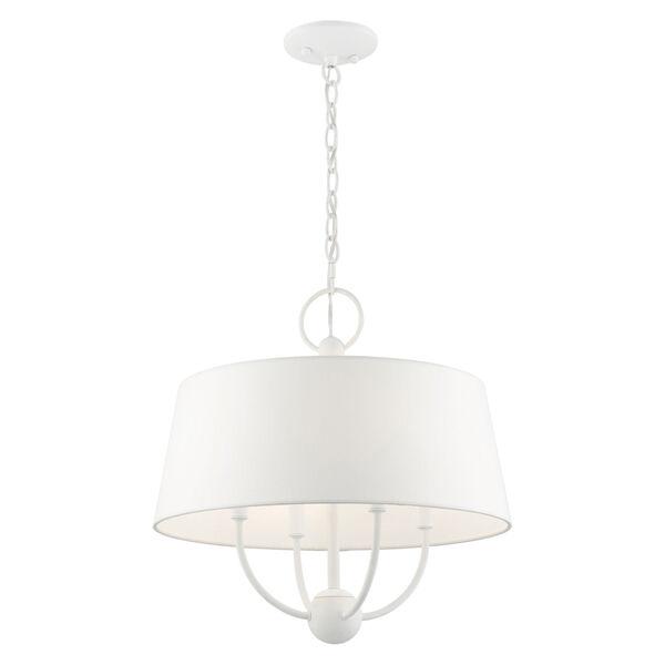 Ridgecrest White Four-Light Chandelier, image 4