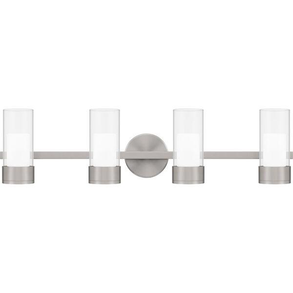 Logan Brushed Nickel Four-Light LED Bath Vanity, image 1
