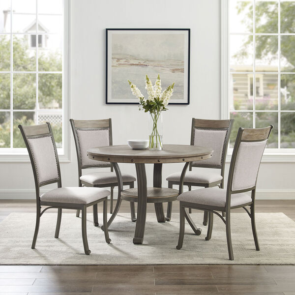 Elizabeth Pewter Dining Set, 5-Piece, image 1