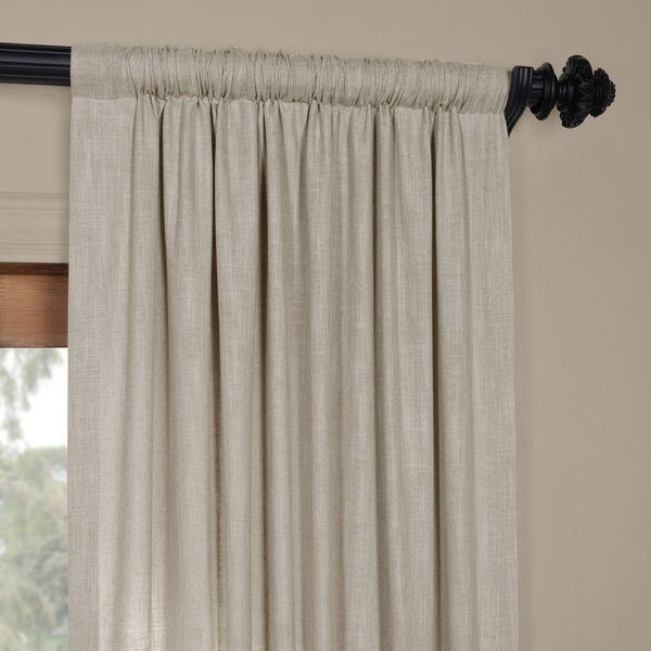 Ash Grey Heavy Faux Linen 96 x 50 In. Curtain Single Panel, image 3