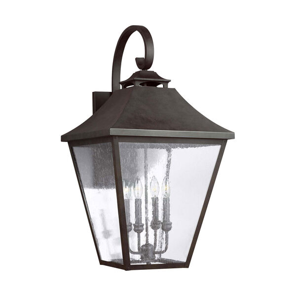 Galena 33-Inch Sable Four-Light Outdoor Wall Lantern, image 1