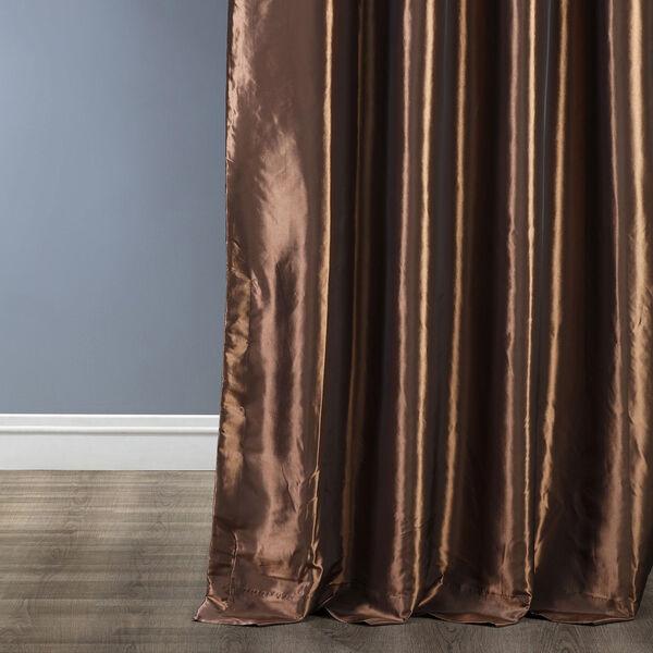 Ruched Mushroom 84 x 50-Inch Faux Silk Taffeta Curtain Single Panel, image 4