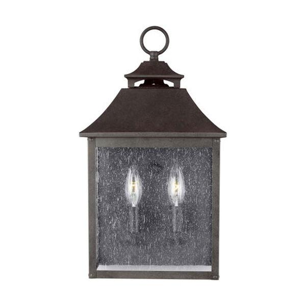 Sutton Black Two-Light Outdoor Wall Lantern, image 2