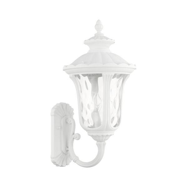Oxford Textured White Three-Light Outdoor Wall Lantern, image 2