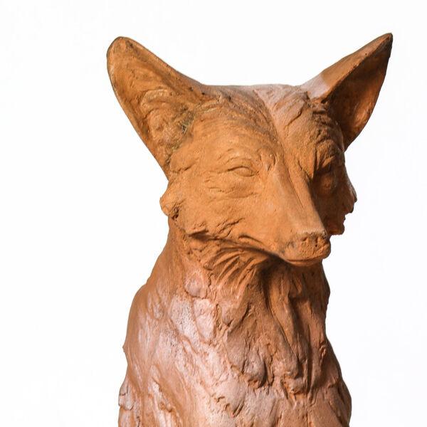 Autumn Rose Fiberstone Astute Fox Figurine, image 5