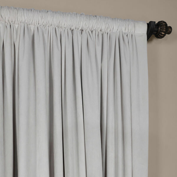 Reflection Gray 84 x 100-Inch Doublewide Blackout Velvet Curtain, image 3