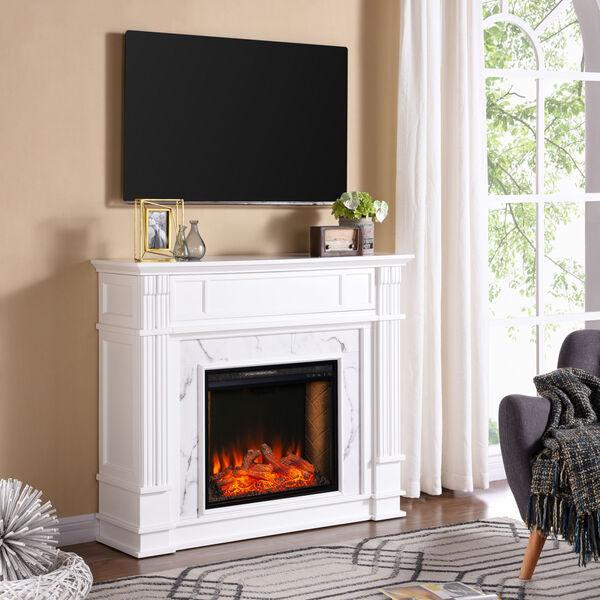 Highgate White Electric Alexa Smart Media Fireplace, image 4