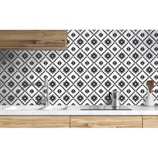 NextWall Southwest Tile Peel and Stick Wallpaper, image 1