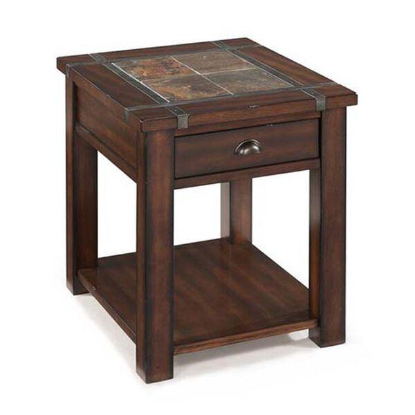 Roanoke Cherry and Slate End Table, image 1