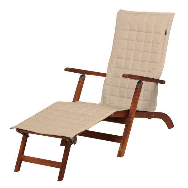 Oak Antique Beige Patio Steamer Chaise Cover, image 1