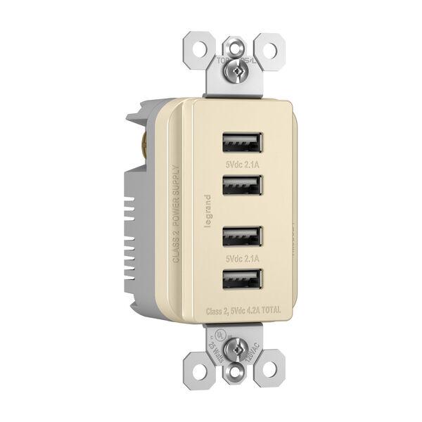 Light Almond Quad USB Charger, image 2