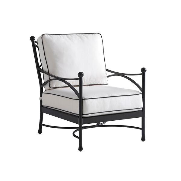 Pavlova Graphite and White Lounge Chair, image 1