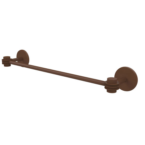 Satellite Orbit One Collection 30 Inch Towel Bar with Dotted Accents, Antique Bronze, image 1